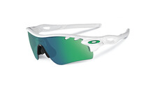 Oakley Radarlock XL polished white/jade iridium & yellow vented